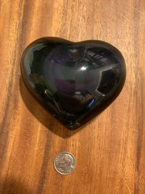 Rainbow Obsidian Heart