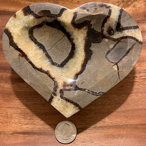 Large Septarian Heart Alter Bowl