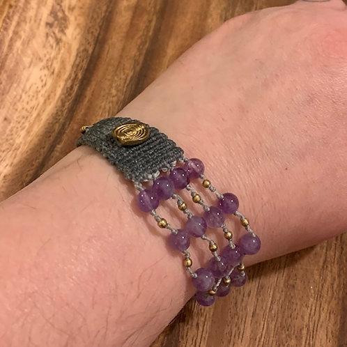 Amethyst 70/30 Bracelet