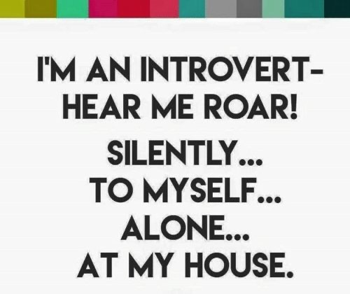 I am introvert hear me roar
