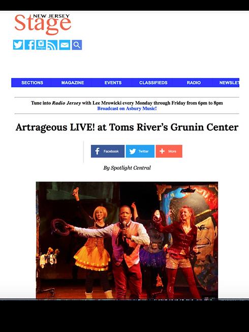 ARTRAGEOUS LIVE SHOW REVIEW