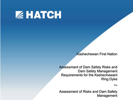 Assessment of Dam Safety Risks and Dam Safety Management Requirements for the Kashechewant Ring Dyke