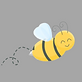 Logo Bee Only Grey Background.png