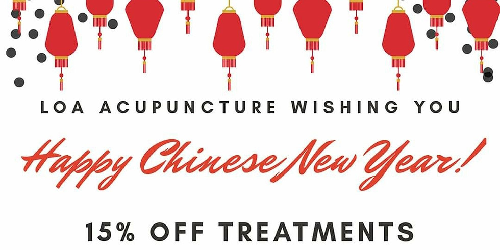 Chinese New Year Special 15% Acupuncture Session