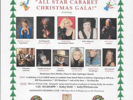 All Star Cabaret Christmas Gala December 10, 2017 at the Sausalito Cruising Club
