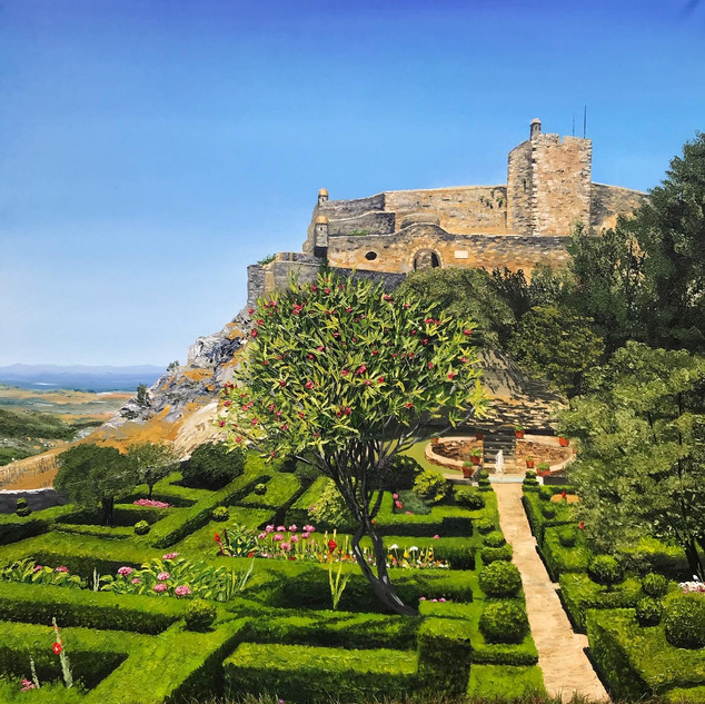 Marvao Castle gardens, Portugal
