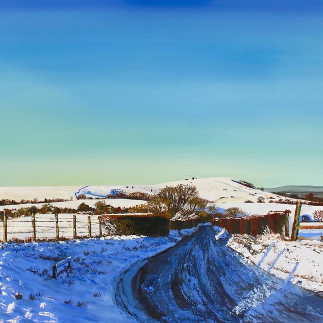 Snow on Wolstonbury Hill