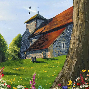 Pyecombe Church in Summer