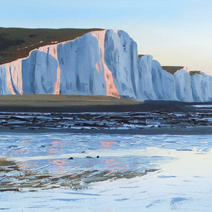 Evening light on the Seven Sisters