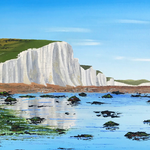 Seven Sisters at Low Tide