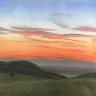Sunset Behind Wolstonbury Hill