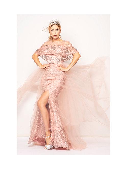 Robe rose princesse