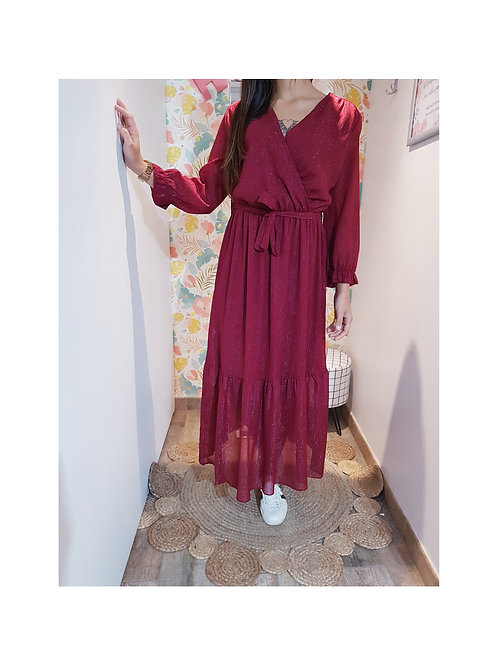 Robe bordeaux irisé