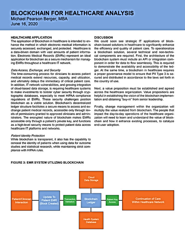 Blockchain Healthcare IT Case Analysis2.