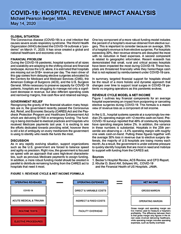 COVID19 Hospital Revenue Impact Case Ana