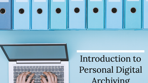 Introduction to Personal Digital Archiving