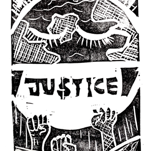 #3 A Justice Monoprint by April Sedall