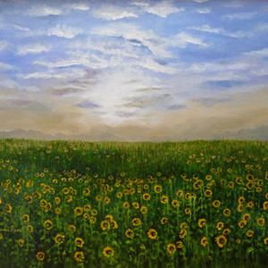 #7 Sunrise on the Sunflowers by Sann Rene