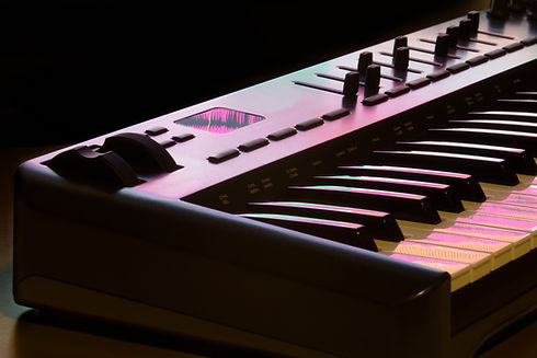 Midi keyboard detail