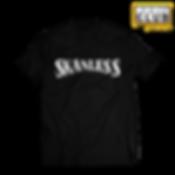 Skanless WHITE (PINSTRIPE) MOCK UP BLACK