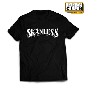 Skanless WHITE (PINSTRIPE) MOCK UP BLACK