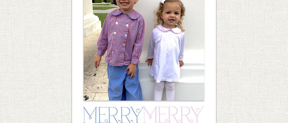 Christmas Card-Merry Merry Christmas