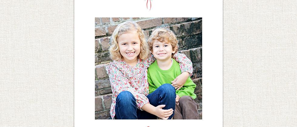 Christmas Card- Initial & Wreath