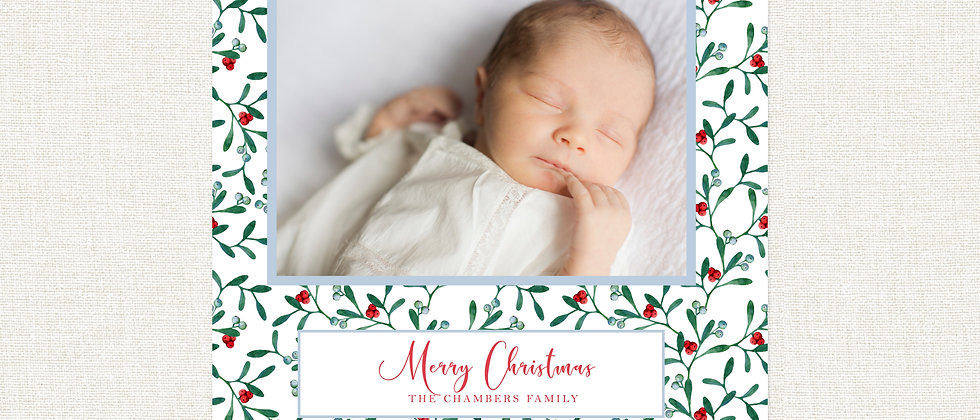 Christmas Card-Floral Background