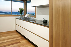 solid oak and lacquer kitchen