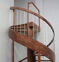 Spiral staircase. Stained American ash. 'Supreme Award' 2014.