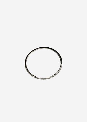 Bracelete 1/2 zirc. 1/2 liso - 915