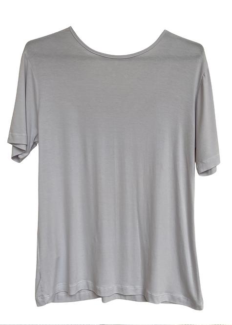 T-shirt White V - BAS01