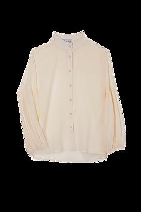 Camisa Manga Bufante Off White