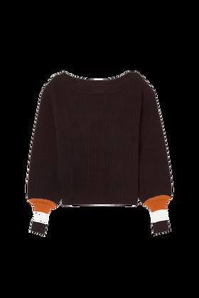 Tricot Punho Colorido Preto