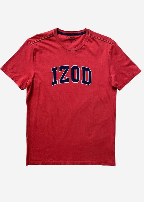Camiseta Izod Basic Logo Bordô - IZ004