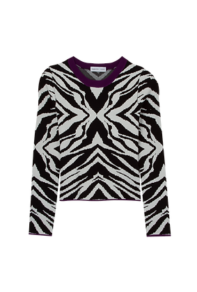 Tricot Lã Est/zebra Mg/longa Rox