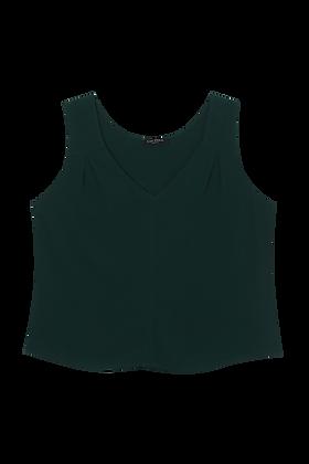 Regata Viscose Detalhe Pregas Ombros (372) Verde