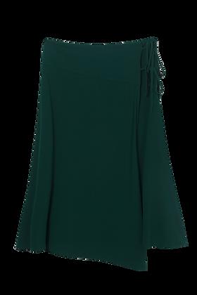 Saia Midi Viscose Com Cordao (204) Verde