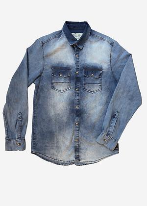 Camisa jeans azul indico Zamany - ZA004