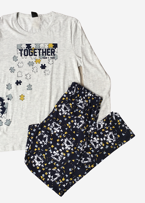 Pijama Tigor T. Tigre Puzzle - PJ013
