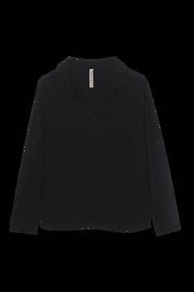 Camisa Linho Lisa Sem Botao (300) Preta