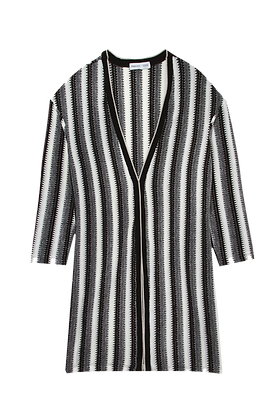Kimono Tricot C/Lurex Cinza