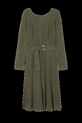 Vestido Midi Malha Othoman Verde Militar