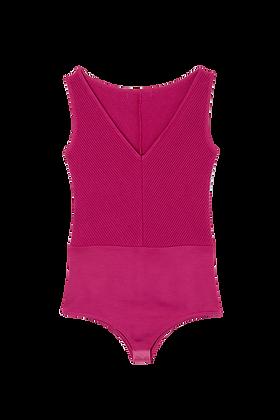 Body Canelado 2 Formas De Usar Rosa Pink - 0888