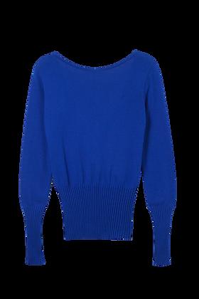 Blusa Decote Costas Azul Royal