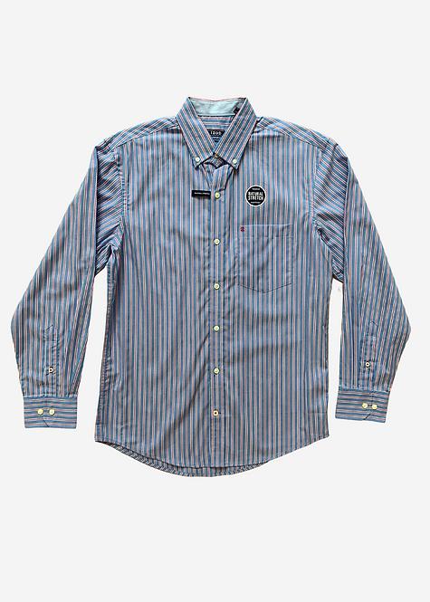 Camisa Social IZOD Natural Stretch Listras - IZ035