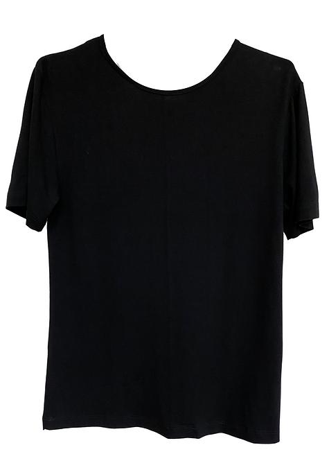 T-shirt Black V - BAS03