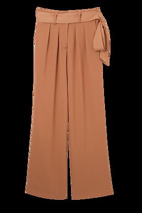 S008 calça Pantalona Camelo