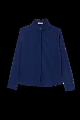 Camisa Detalhe Gola Az Azul Marinho