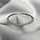 Thumbnail: Bracelete 1/2 zirc. 1/2 liso - 915